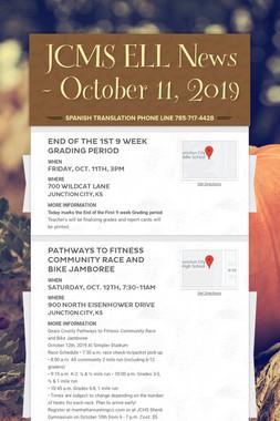 JCMS ELL News - October 11, 2019