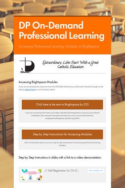 DP On-Demand Professional Learning