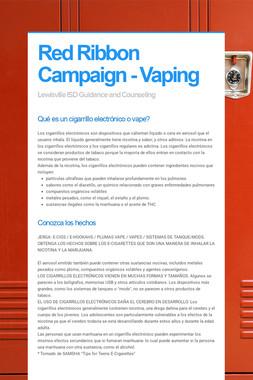 Red Ribbon Campaign - Vaping