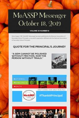 MoASSP Messenger October 18, 2019