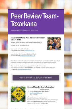 Peer Review Team-Texarkana