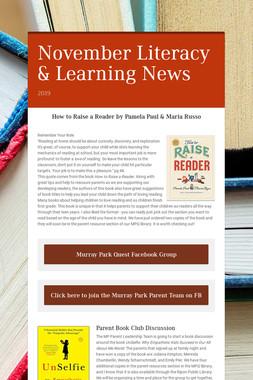 November Literacy & Learning News