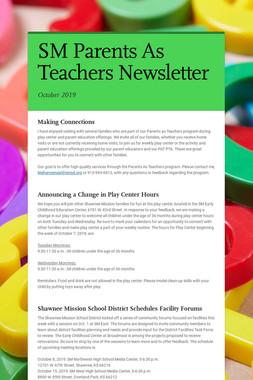 SM Parents As Teachers Newsletter