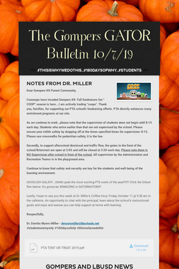 The Gompers GATOR Bulletin 10/7/19