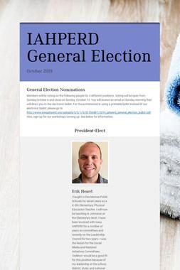 IAHPERD General Election
