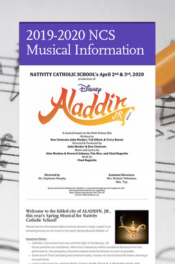 2019-2020 NCS Musical Information