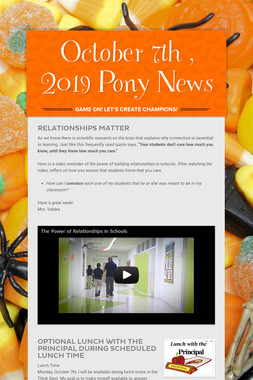 October 7th , 2019 Pony News