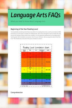 Language Arts FAQs
