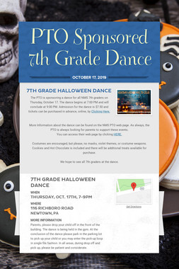 PTO Sponsored 7th Grade Dance