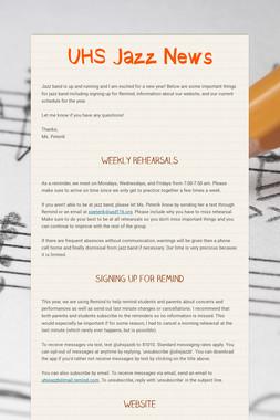 UHS Jazz News