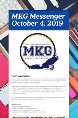 MKG Messenger October 4, 2019