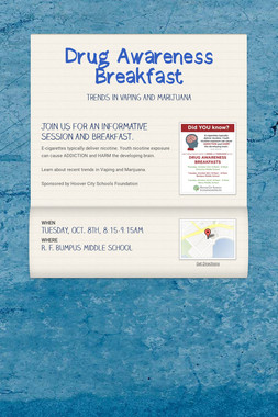 Drug Awareness Breakfast