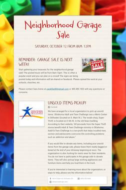 Neighborhood Garage Sale