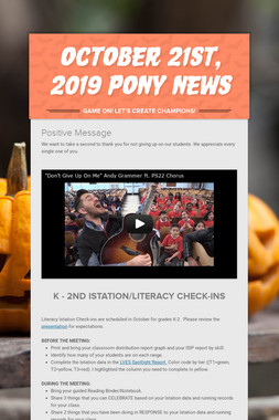 October 21st, 2019 Pony News