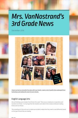 Mrs. VanNostrand's 3rd Grade News