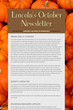 Lincoln's October Newsletter