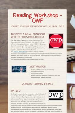 Reading Workshop - OWP