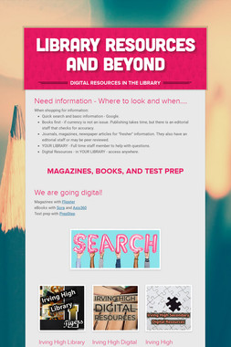 Library Resources and Beyond