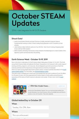 October STEAM Updates