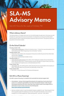 SLA-MS Advisory Memo