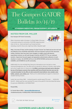 The Gompers GATOR Bulletin 10/14/19