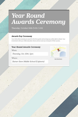 Year Round Awards Ceremony