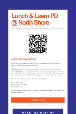 Lunch & Learn PD @ North Shore