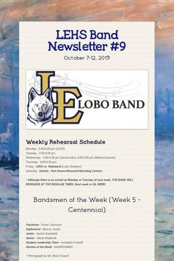 LEHS Band Newsletter #9