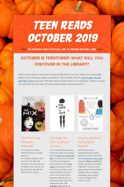 Teen Reads October 2019