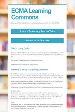ECMA Learning Commons