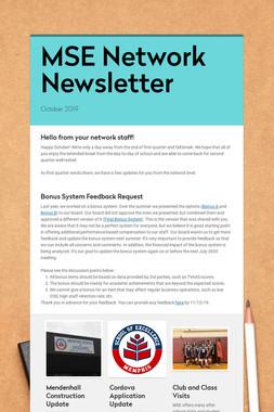 MSE Network Newsletter