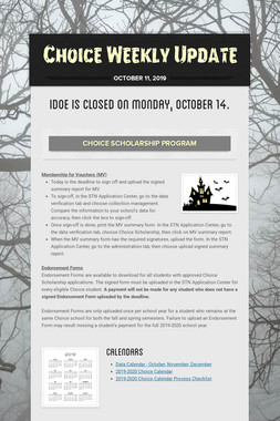 Choice Weekly Update