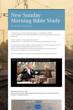 New Sunday Morning Bible Study