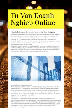 Tu Van Doanh Nghiep Online