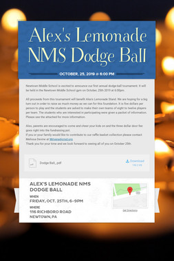 Alex's Lemonade NMS Dodge Ball