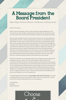 A Message from the Board President