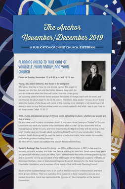 The Anchor November/December 2019