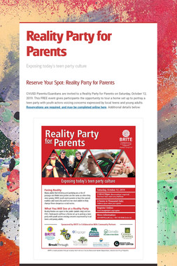 Reality Party for Parents