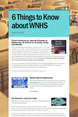 6 Things to Know about WNHS