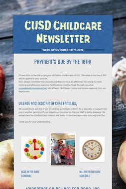 CUSD Childcare Newsletter