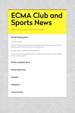 ECMA Club and Sports News