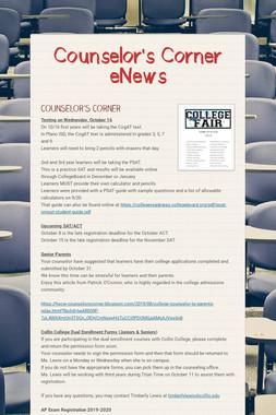 Counselor's Corner eNews