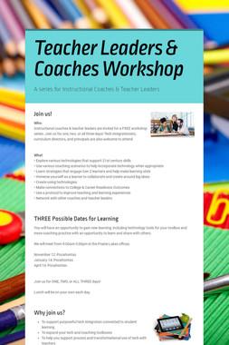Teacher Leaders & Coaches Workshop