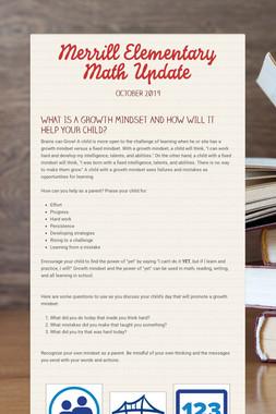 Merrill Elementary Math Update