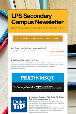LPS Secondary Campus Newsletter