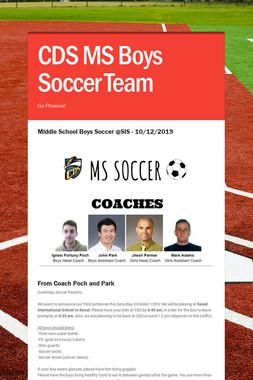 CDS MS Boys Soccer Team