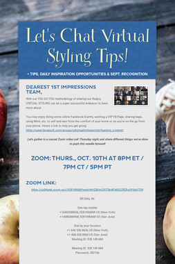 Let's Chat Virtual Styling Tips!