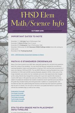 FHSD Elem Math/Science Info
