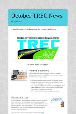 October TREC News