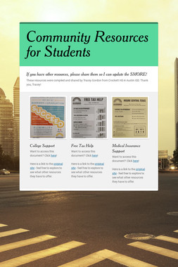 Community Resources for Students